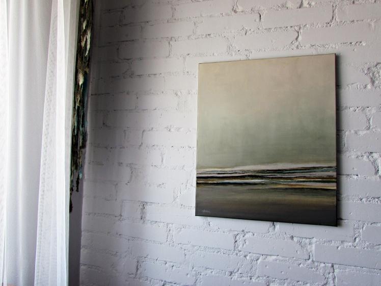 """""""pejzaż abstrakcyjny w beżach"""" abstrakcja 138 sylwia michalska 60x50cm"""