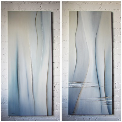 dyptyk abstrakcja sylwia michalska 120x50cm