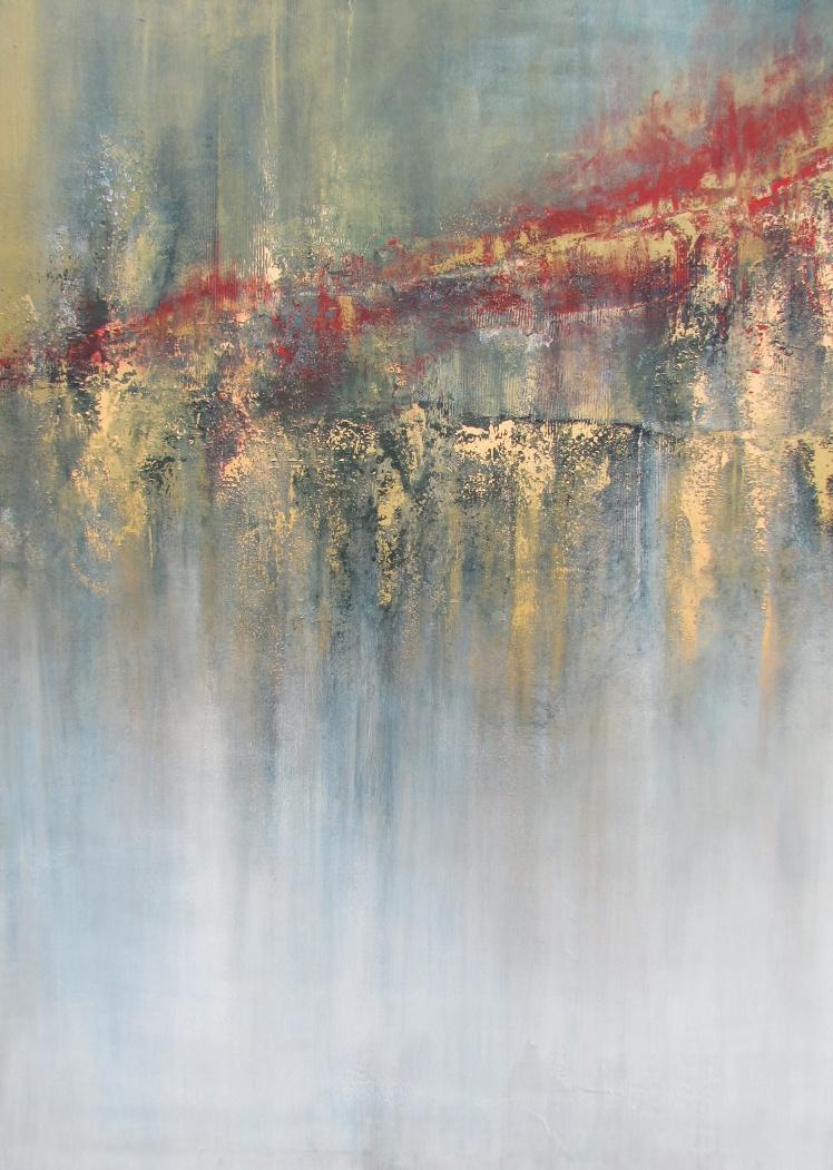 """""""Impresje czasu"""" abstrakcja 146 sylwia michalska 140x100cm"""