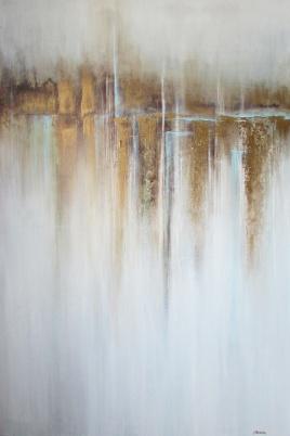 """NIEDOSTĘPNY """"Rdzawy port"""" abstrakcja 143 sylwia michalska 120x80cm"""