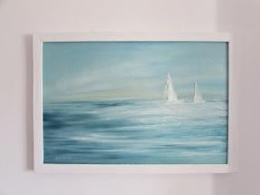 NIEDOSTĘPNY marynistyka obraz olejny 130 sylwia michalska 50x70cm