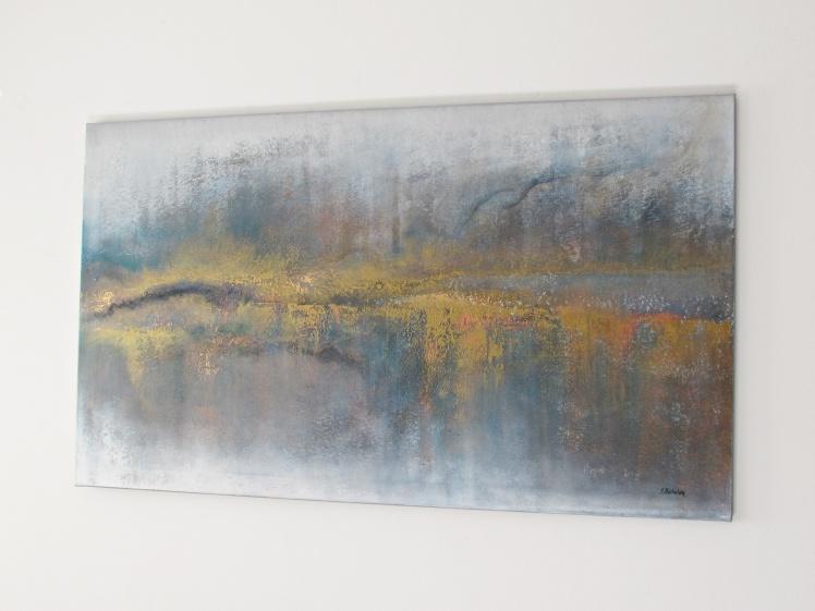 """""""Między zmierzchem a świtem"""" abstrakcja 151 sylwia michalska 70x120cm"""