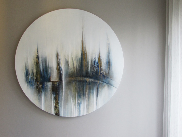 Wizja Manhattanu abstrakcja 153 sylwia michalska  sr. 100cm