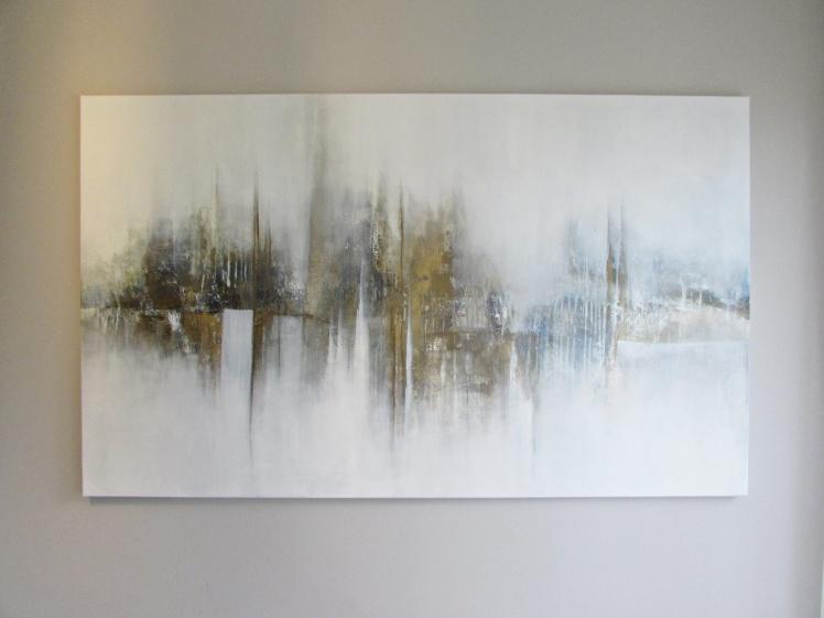 """Harmonia myśli"" abstrakcja 155 sylwia michalska  90x150cm"
