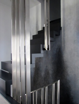 """abstrakcyjne malarstwo ścienne sylwia michalska """"Schodami do nieba""""2018r."""