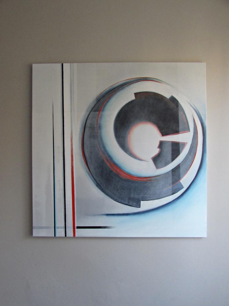 """""""Forma geometryczna"""" abstrakcja 157 sylwia michalska 100x100cm"""