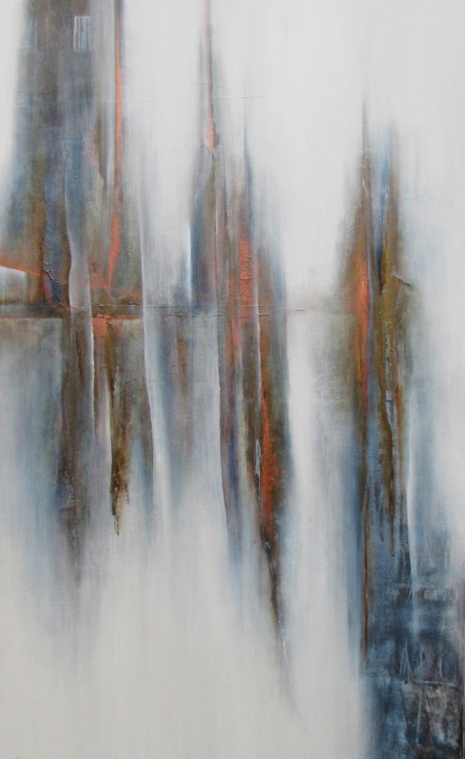 """Widok z okna"" abstrakcja 161 sylwia michalska 150x100cm"