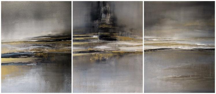"""""""inspiracja"""" abstrakcja 160 sylwia michalska tryptyk 50x40cm"""