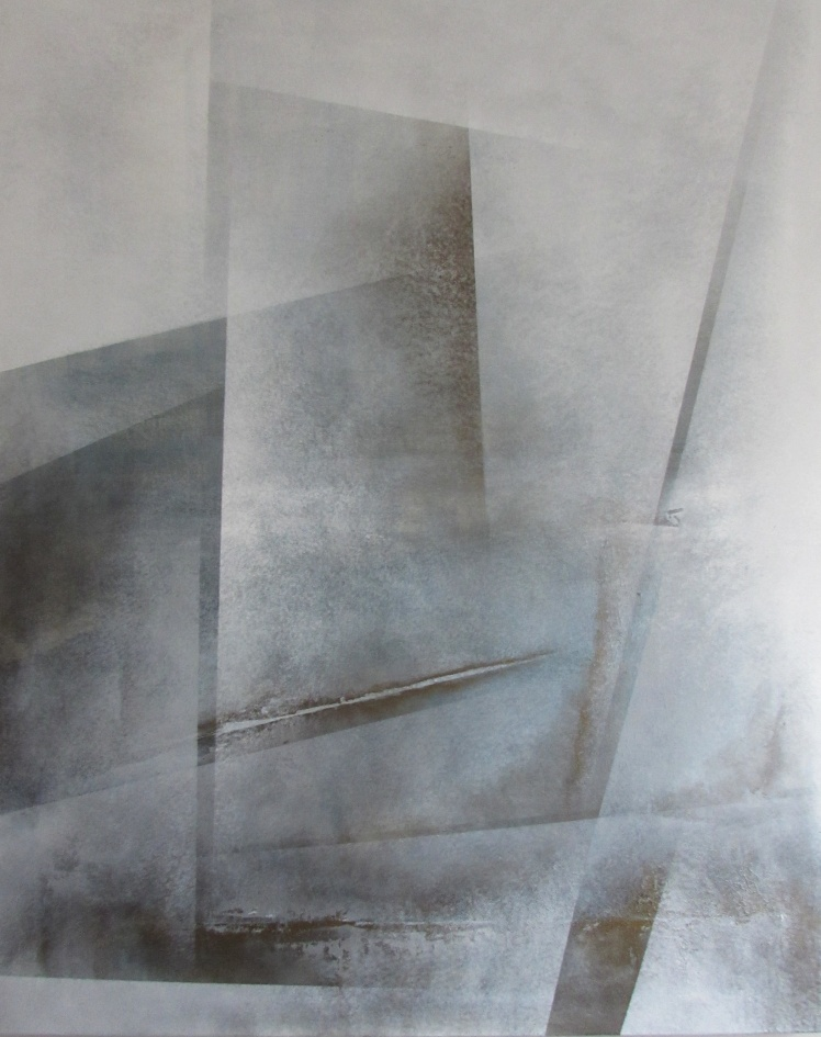 """""""Rozbita tafla uczuć"""" abstrakcja 165 sylwia michalska 100x80cm"""
