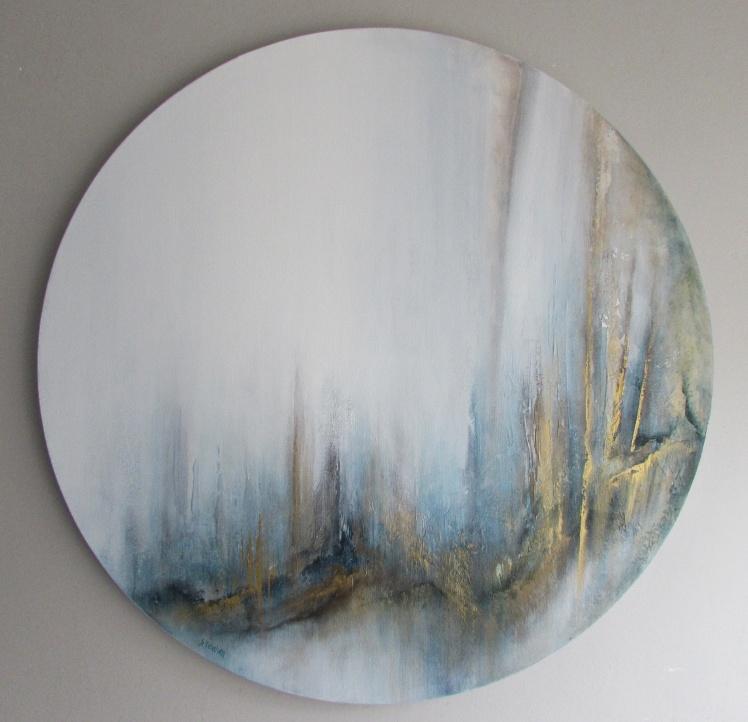 """""""Góry życia"""" abstrakcja 164 sylwia michalska 80cm śr."""