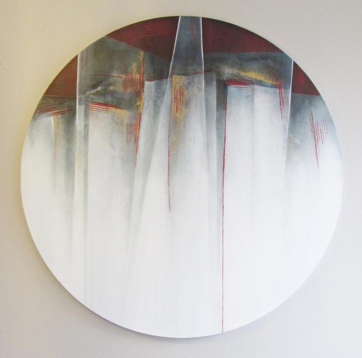 """""""Dachy nieba"""" abstrakcja 168 sylwia michalska śr.100cm"""