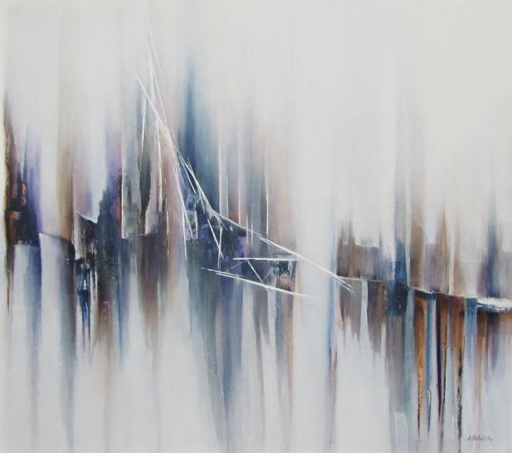 """Mosty"" abstrakcja 176 sylwia michalska 80x90cm"