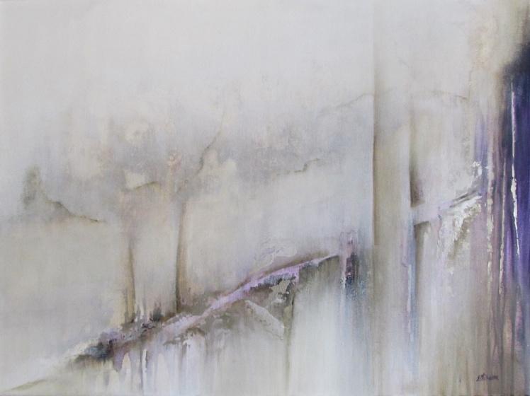 """""""Powiew zimowej lekkości"""" abstrakcja 172 sylwia michalska 60x80cm"""