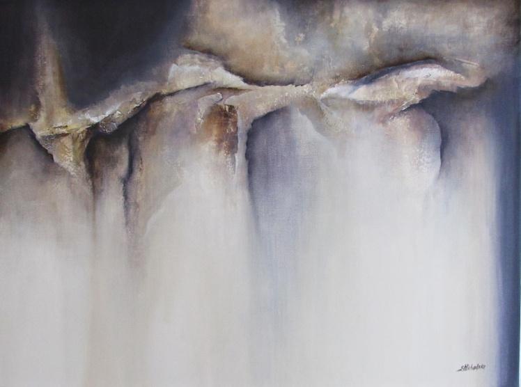 """Jaskinia spokoju"" abstrakcja 174 sylwia michalska 60x80cm"