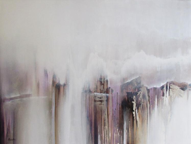 """""""Zamglone szczyty"""" abstrakcja 173 sylwia michalska 60x80cm"""