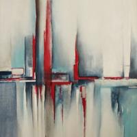 Obrazy abstrakcyjne z czerwienią