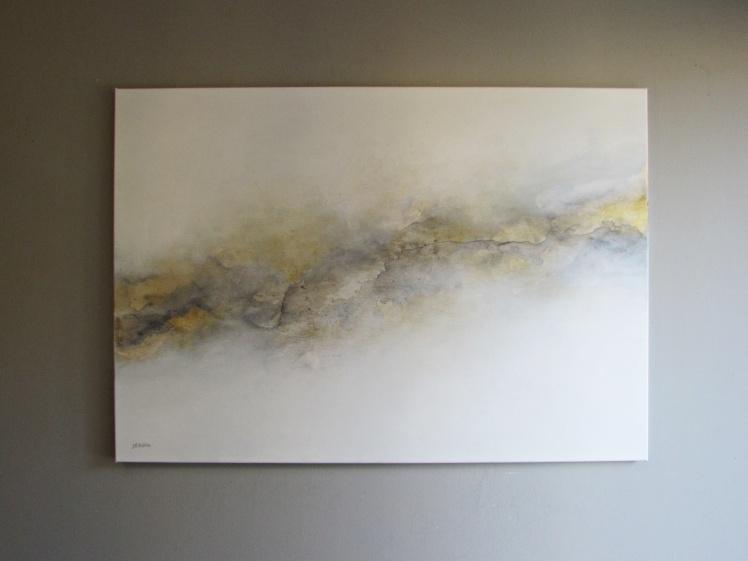 """""""Złota aura"""" abstrakcja 190 sylwia michalska 70x100cm"""