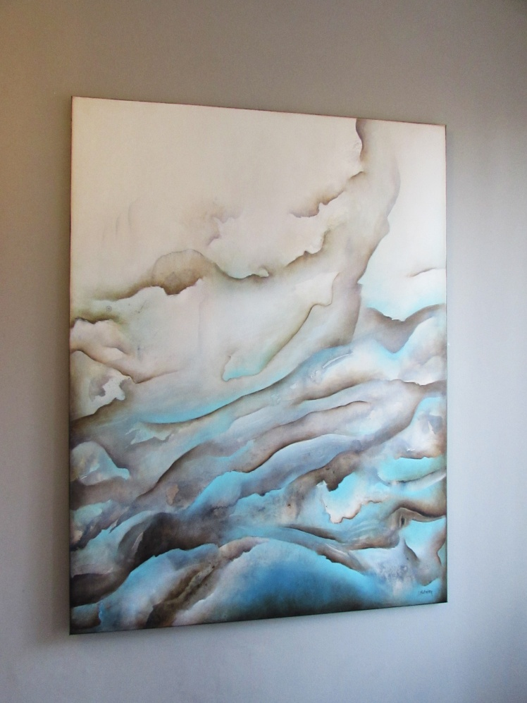 """Skaliste plaże"" abstrakcja 183 sylwia michalska 120x100cm"