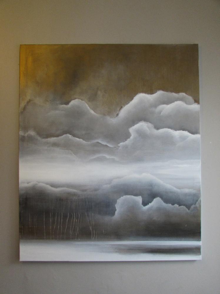 """""""Chmury"""" abstrakcja 185 sylwia michalska 120x100cm"""