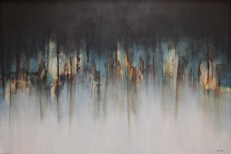 """""""Nocą, gdy nie śpię"""" abstrakcja 189 sylwia michalska 80x120cm"""