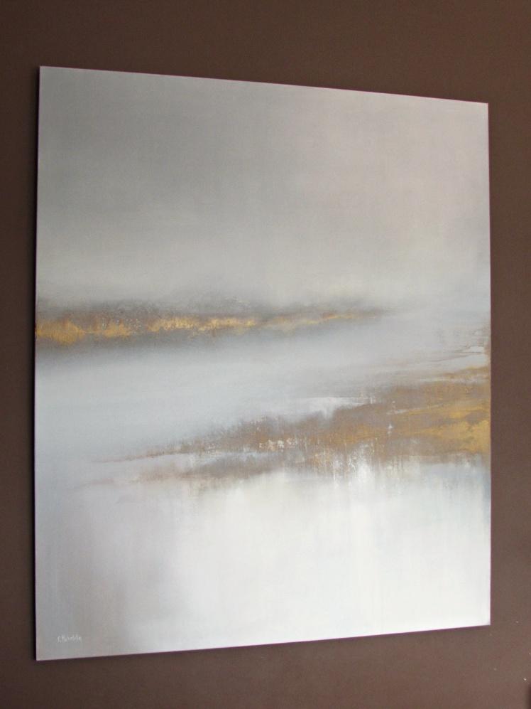 """""""Rzeka spokoju"""" abstrakcja 202 sylwia michalska 120x100cm"""
